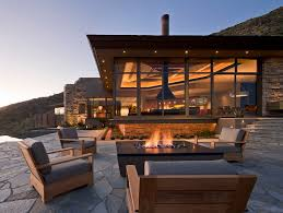 Modern Fire Pits by Chicago Modern Fire Pits Patio Contemporary With Gravel Adirondack