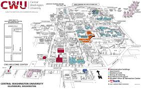 Arizona State University Campus Map by About Cwu Cwu Campus Map