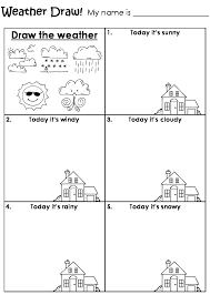 Worksheet Works Com Draw The Weather Worksheet Teaching U003c3 Pinterest Weather