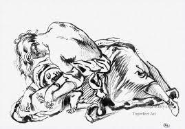 oil paintings of 4 sketch for attila romantic eugene delacroix art