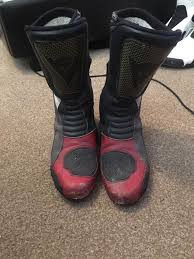 good motorcycle boots dainese motorcycle boots size 10 good condition in bournemouth