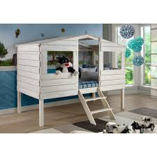 donco kids rustic sand twin tree house loft bed twin tree house