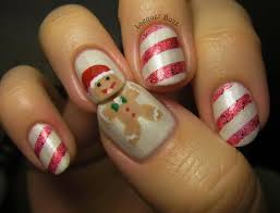 candy cane design nails gallery nail art designs