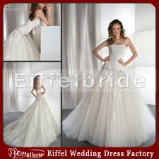 low waist wedding dress gown strapless wedding dress with low waist lace appliques on