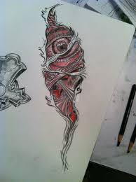 creepy torn skin tattoo by tstat0822 on deviantart