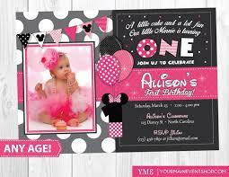pink birthday invitations minnie mouse 1st birthday invitations marialonghi com