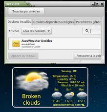 meteo sur mon bureau résolu météo sur le bureau forum francophone linuxmint fr