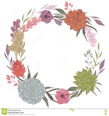 Invitations Birthday Cards Collection Decorative Floral Design Elements For Wedding