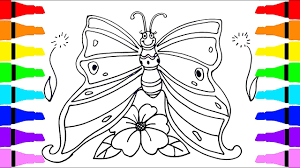 butterfly drawing and coloring for kids children drawing