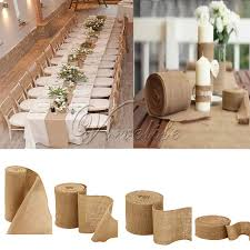 Home Decoratives 10meter Natural Jute Hessian Burlap Ribbon Roll Burlap Table