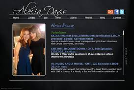 Best Video Resume Sites by Alecia Davis Resume Tv Host Model Actress