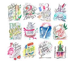 days of printable lindsay letters