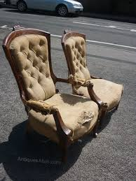 Antique Armchairs A Pair Victorian Grandfather U0026 Grandmother Chairs Antiques Atlas