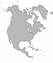 North America Map Labeled by Blank Map Of North America Free Printable Maps