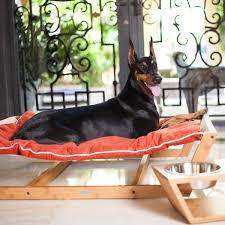 bambu nautical hammock dog bed orange