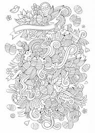 abstract easter coloring pages easter eggs easter bunnies baskets in a beautiful doodle
