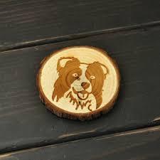aimant cuisine border collie en bois réfrigérateur aimant chien réfrigérateur