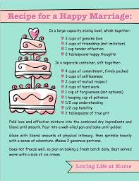 Good Wedding Quotes Recipe For A Happy Marriage Newlywed Marriage Advice Pinterest