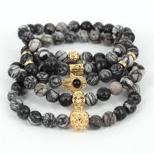 skull bracelet bead images 2017 natural stone beads skull bracelet for men jewelry spider web jpg
