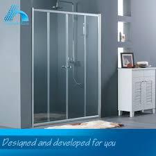 double open glass shower door double open glass shower door