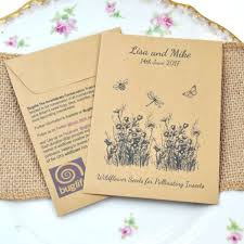 wedding seed packets buglife charity wedding favour seed packet wedding