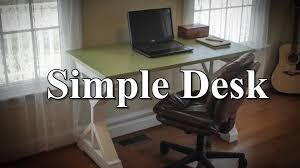 simple desk with plans youtube