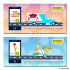 delivery service app flower and furniture delivery service flyers express delivery