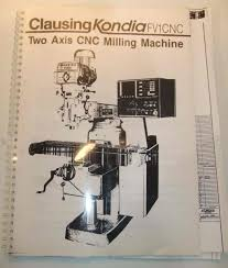 manuals needed cnc kondia fv 1