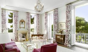 interior attractive home interior design with cozy purple sofa