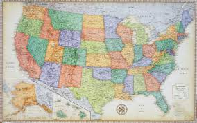 us map framed united states wall maps classic premier united states blue oceans