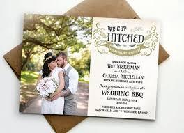reception invitations post wedding reception invitation we got hitched 2457430