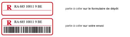 code bureau de poste envoi recommandé national bpost