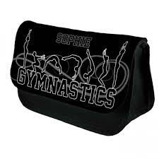 gymnastic tumble personalised make up bag perfect gift idea for