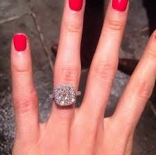 cushion diamond ring katherine webb s platinum 5 carat cushion cut diamond ring