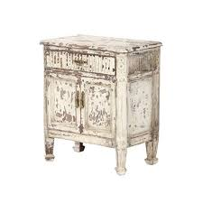 Traditional Nightstands French Vintage Distressed Nightstand Nightstands White Belle