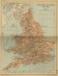 Map Of Wales Of England And Wales 1649 1910
