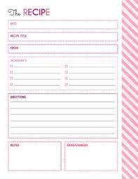 printable recipes templates free printables 4 layouts for full page recipe book binder