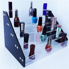 Nail Varnish Cabinet 2017 Acrylic Tiered Nail Varnish Display Stand Nail Polish Display