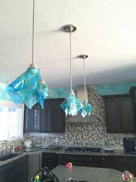 Blue Pendant Light by Shades Of Blue Abstract Glass Pendant Light Designer Glass