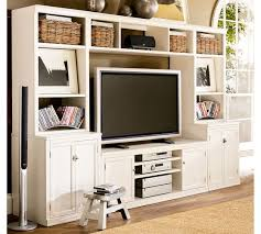 Pottery Barn White Desk With Hutch Logan Media Suite With Door Bookcase Pottery Barn