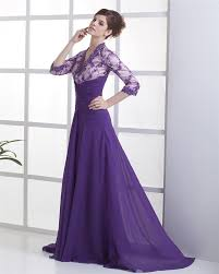 purple prom dresses 2017 high neck long sleeve appliques a line