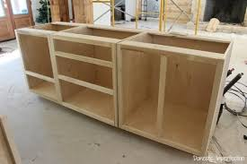 how to build base cabinets out of plywood 25 easy diy kitchen cabinets with free step by step plans