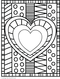 Coloring Page Of A Coloring Page Of A Heart Download Heart Coloring Pages Free by Coloring Page Of A