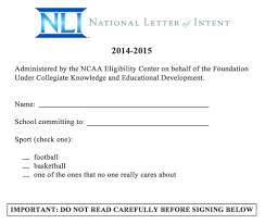College National Letter Of Intent Leaked College Football S National Letter Of Intent