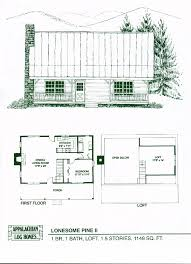1 room cabin plans lonesome pine ii 1 bed 1 bath 1 5 stories 1148 sq ft