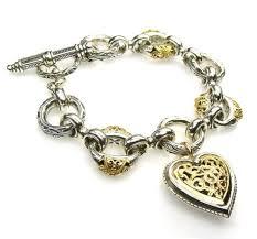 silver bracelet with gold charm images Bracelets telesto designs jpg