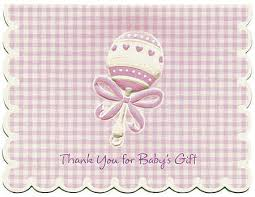 lavender baby rattle thank you for baby s gift cards it s a