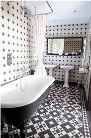 black and white tile bathroom via pinterest pinterest bathroom