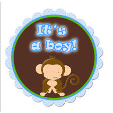 Baby Boy Monkey Theme Instant Download Monkey Its A Boy Baby Shower Scalloped Tags