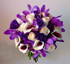 cool purple and ivory wedding flowers on wedding flowers with